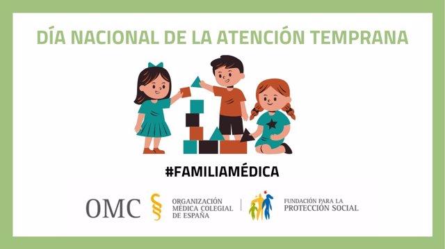 La FPSOMC recuerda sus ayudas a hijos de 0 a 6 años de médicos que necesitan un tratamiento de atención temprana