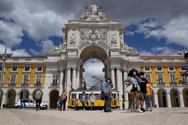 Plaza Terreiro do Paço en Lisboa, Portugal