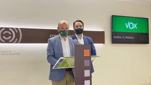 Los diputados de VOX, Santiago Morón y David Arranz
