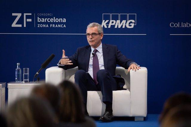 El president del Grup Inditex, Pablo Isla, en la Reunió del Cercle d'Economia.