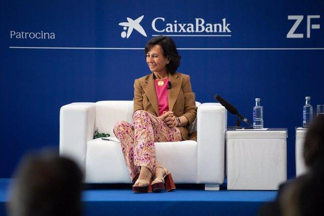 La presidenta del Banc Santander, Ana Botín, en la Reunió del Cercle d'Economia.