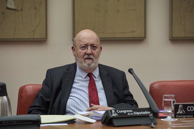 El presidente del Centro de Investigaciones Sociológicas, José Félix Tezanos, comparece en una Comisión Constitucional en el Congreso de los Diputados.