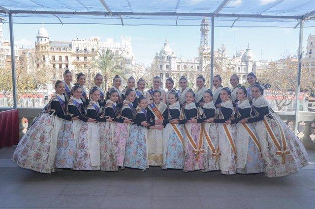 Archivo - Las Falleras Mayores de València y sus Cortes de Honor