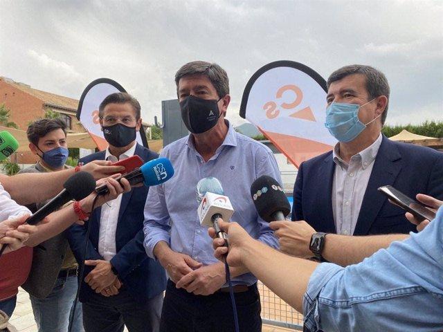 El coordinador autonómico de Cs en Andalucía, Juan Marín, atiende a los medios