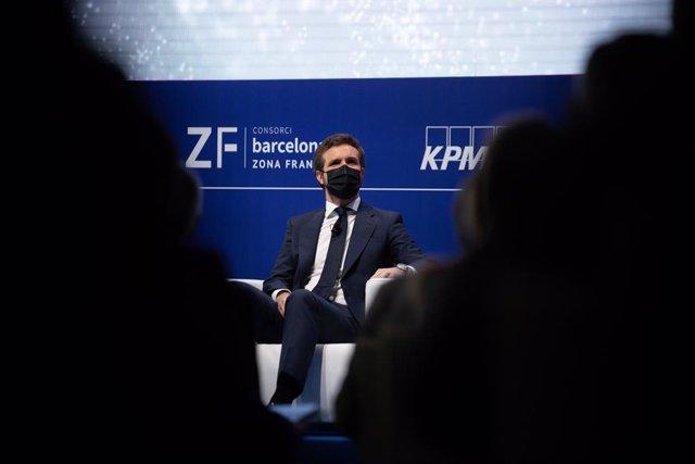 El president del PP, Pablo Casado, en la XXXVI Reunió Anual del Cercle d'Economia.