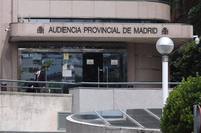 Archivo - Entrada a la Audiencia Provincial de Madrid.