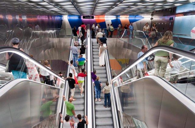 Archivo - Estación de La Sagrera del Metro de Barcelona