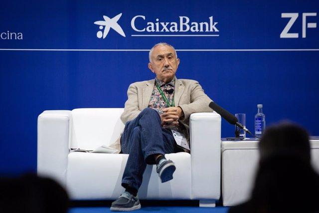 El secretari general de la UGT, Pepe Álvarez, en la Reunió Anual del Cercle d'Economia.