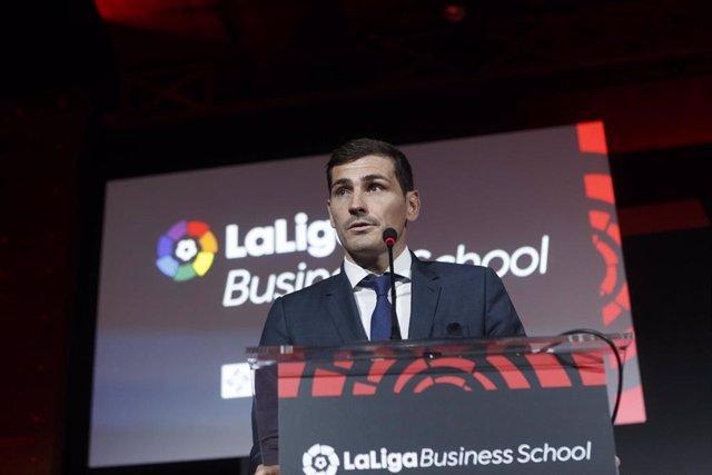 Archivo - Iker Casillas durante un acto como 'ICON' de LaLiga