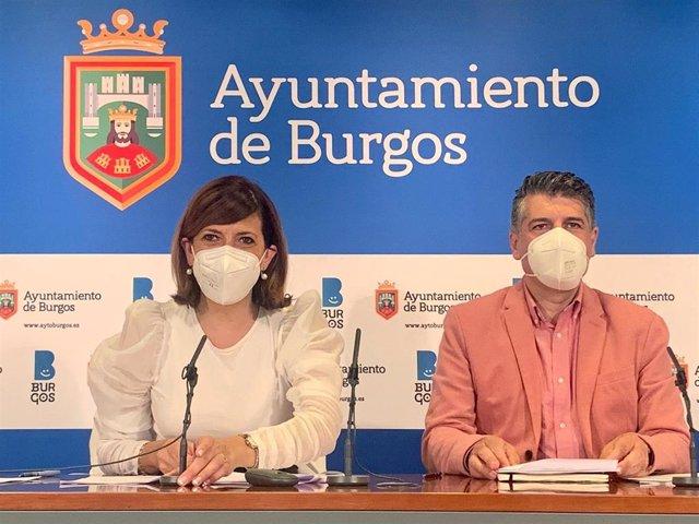 Nuria Barrio y Vicente Marañón, coportavoces del equipo de Gobierno local del Ayuntamiento de Burgos.