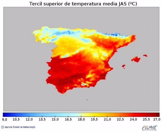 El verano de 2021 será más cálido de lo normal en España, sobre todo será más caluroso cuanto más al sur, según la predicción de la AEMET.