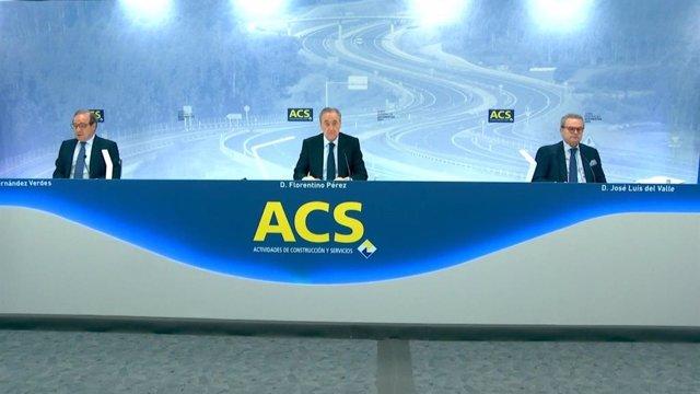Archivo - Junta general de accionistas de ACS de 2020, celebrada de forma telemática