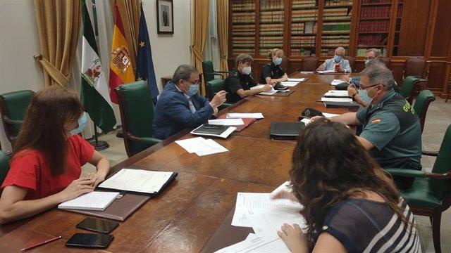 Reunión de coordinación del Plan Director para la Convivencia en Málaga