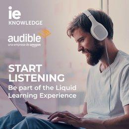 IE y Amazon firman acuerdo para la  difusión y generacion  de contenidos educativos en formato audio.