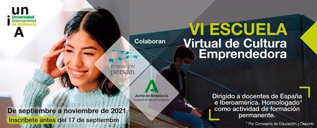 Cartel promocional de la VI 'Escuela virtual de de cultura emprendedora'