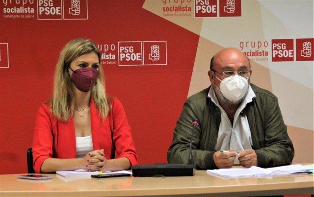 La diputada del PSdeG Marina Ortega y el director gerente de Fademga Feamps Galicia, Antonio Fuentetaja