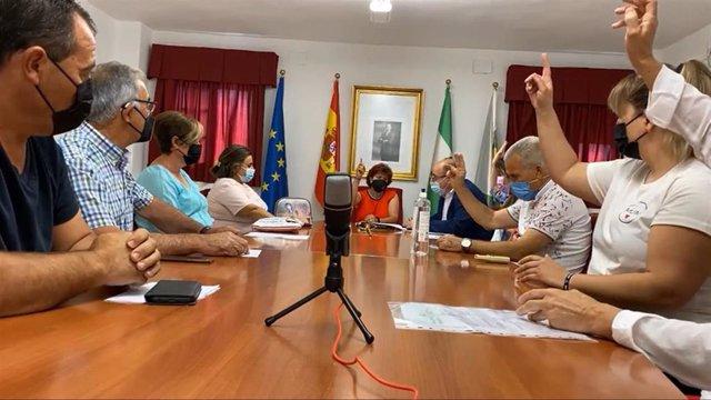 Captura de pantalla del vídeo del Pleno de investidura de Irene Cano como alcaldesa de Montillana