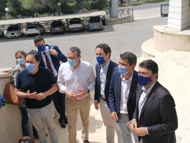 García Egea junto a Mazón, Pérez y Barcala en Alicante