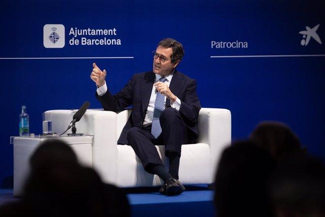 """El president de la CEOE, Antonio Garamendi, en la XXXVI Reunió del Cercle d""""Economia."""