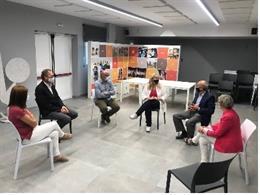 La consellera Violant Cervera visita la Fundació Ampans de Santpedor (Barcelona).