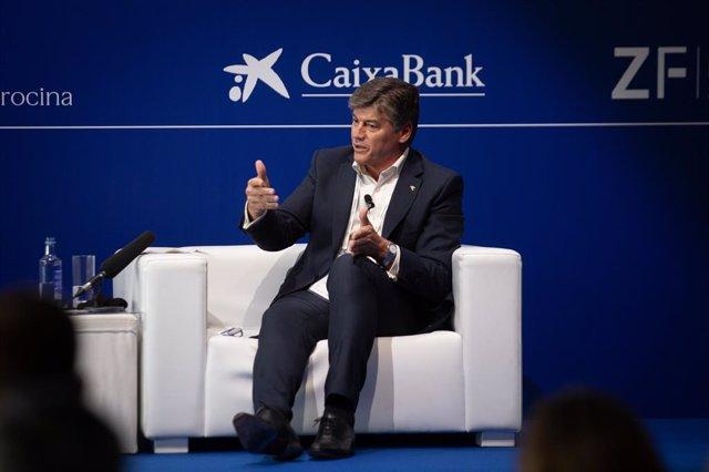 El president de Pimec, Antoni Cañete, durant la XXXVI Reunió Anual del Cercle d'Economia.