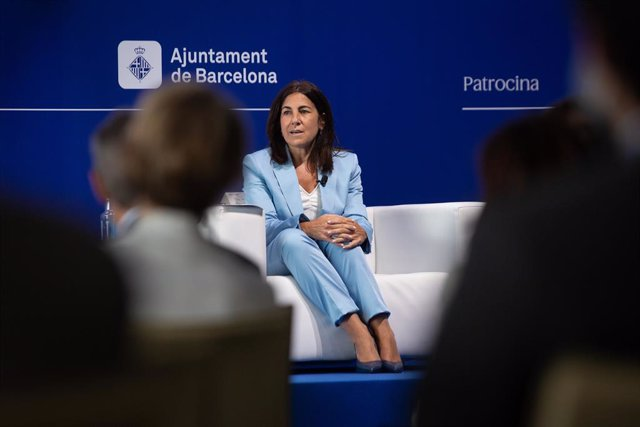 La CEO de Ciberseguretat i Cloud de Telefónica, María Jesús Almazor, en la XXXVI Reunió Anual del Cercle d'Economia.