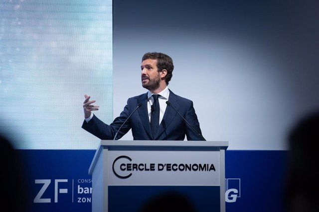 El president del PP, Pablo Casado, intervé en la Reunió Anual del Cercle d'Economia.