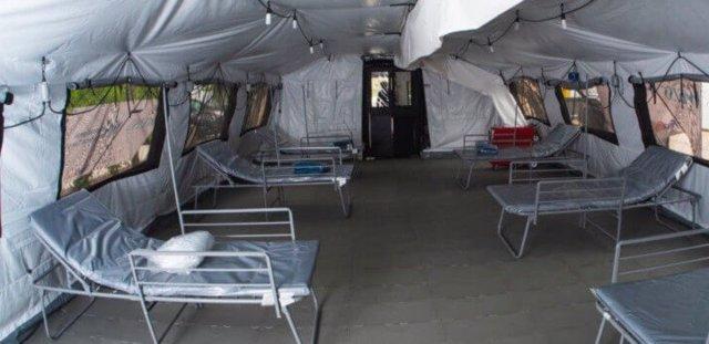 Hospital de campaña donado a Uruguay por Estados Unidos.