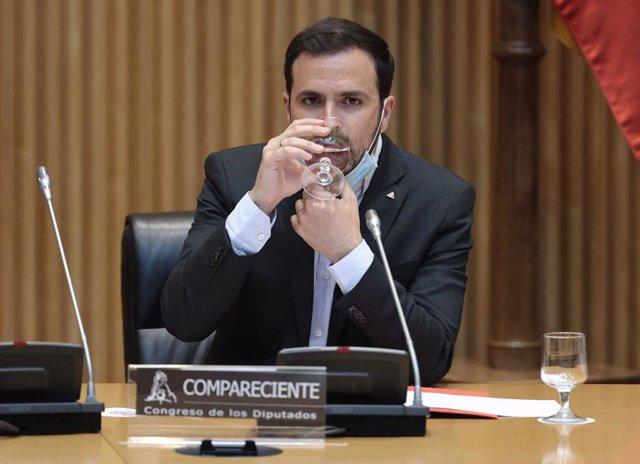 Arxiu - El ministre de Consum, Alberto Garzón.