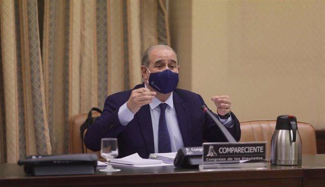 El director general de la Policía, Francisco Pardo Piqueras, comparece en la Comisión de Interior del Congreso el pasado 26 de mayo