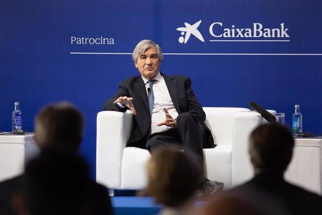 El presidente de Naturgy, Francisco Reynés, este jueves en una sesión de la XXXVI Reunión Anual del Cercle d'Economia