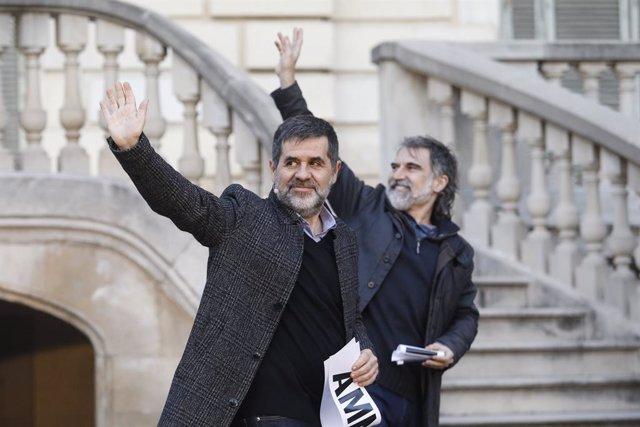 Archivo - Arxiu - L'expresident de l'ANC i exdiputat de JxCat, Jordi Sànchez, i el president d'Òmnium Cultural, Jordi Cuixart.