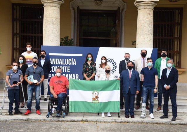 Acto conmemorativo al centenario de la primera medalla olímpica andaluza lograda en 1920, celebrado este jueves en Sevilla