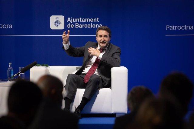 """El director ejecutivo de Repsol, Josu Jon Imaz, interviene durante la sesión, bajo el título: 'El propósito empresarial. El nuevo capitalismo', en la segunda jornada de la XXXVI Reunión del Cercle d""""Economia, en el Hotel W de Barcelona, a 17 de junio de 2"""