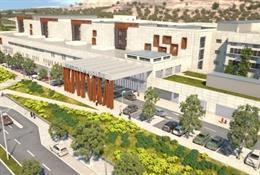 Recreación del nuevo Hospital de Alcañiz.