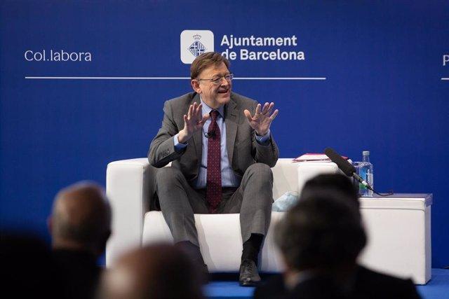 """El president de la Generalitat, Ximo Puig, intervé en una sessió, sota el títol: `El model territorial per millorar l'economia espanyola', en la segona jornada de la XXXVI Reunió del Cercle d""""Economia, a l'Hotel W de Barcelona, a 17 de juny de"""