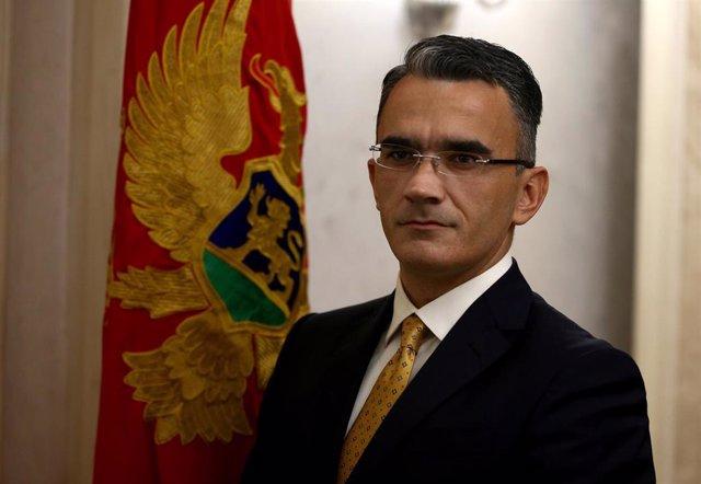 Archivo - El ministro de Justicia de Montenegro, Vladimir Leposavic.