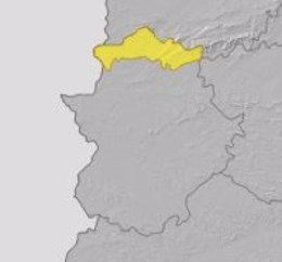Alerta amarilla por lluvias y tormentas en el norte de Cáceres