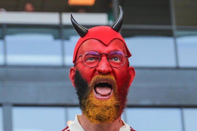 Un aficionado de Bélgica en la Eurocopa