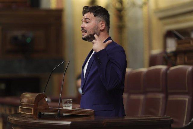 Arxiu - El portaveu d'ERC al Congrés dels Diputats, Gabriel Rufián.