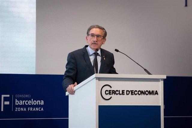 El conseller de Economía y Hacienda de la Generalitat, Jaume Giró, durante su intervención la XXXVI Reunión Anual del Cercle d'Economia en Barcelona.