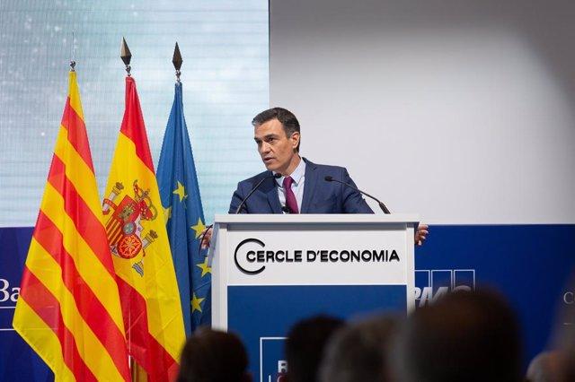 Clausura de la XXXVI Reunió del Cercle d'Economia a Barcelona amb el president del Govern espanyol, Pedro Sánchez, a 18 de juny de 2021.