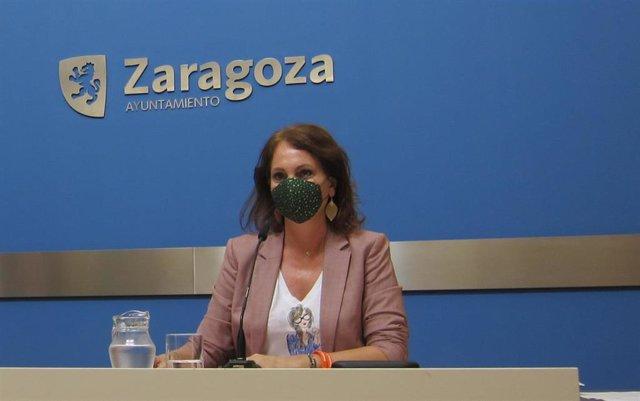 La consejera de Economía, Innovación y Empleo del Ayuntamiento de Zaragoza, Carmen Herrarte.