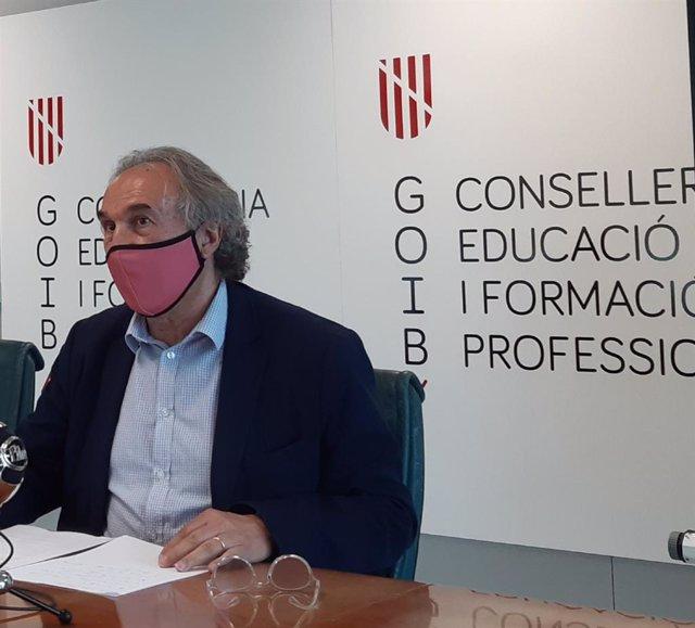 El conseller de Educación y Formación Profesional, Martí March.
