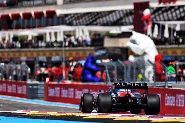 Coche de Alpine en el Gran Premio de Francia
