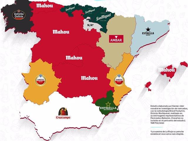 Mahou, cerveza más elegida en la cesta de la compra de los hogares españoles
