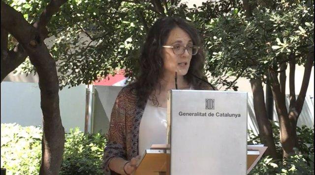 La consellera d'Igualtat i Feminismes, Tània Verge.