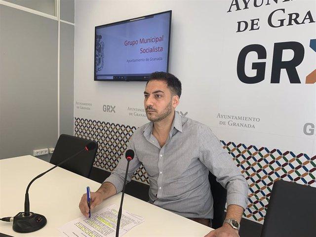 El concejal del PSOE en Granada Eduardo Castillo
