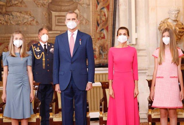 Los Reyes, la Princesa de Asturias y la Infanta Sofía
