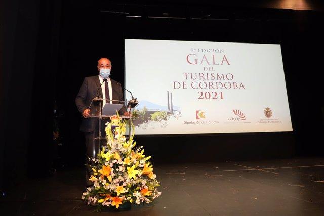 El presidente de la Diputación, Antonio Ruiz, en la Gala del Turismo de Córdoba